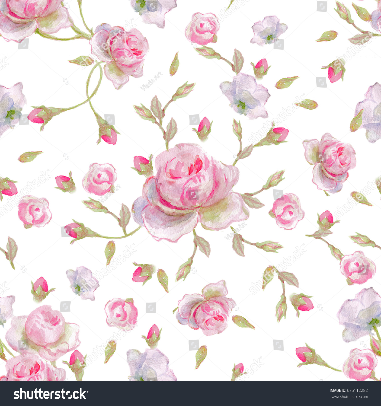 Seamless Floral Pattern Pattern Wrapping Paper Stock Illustration