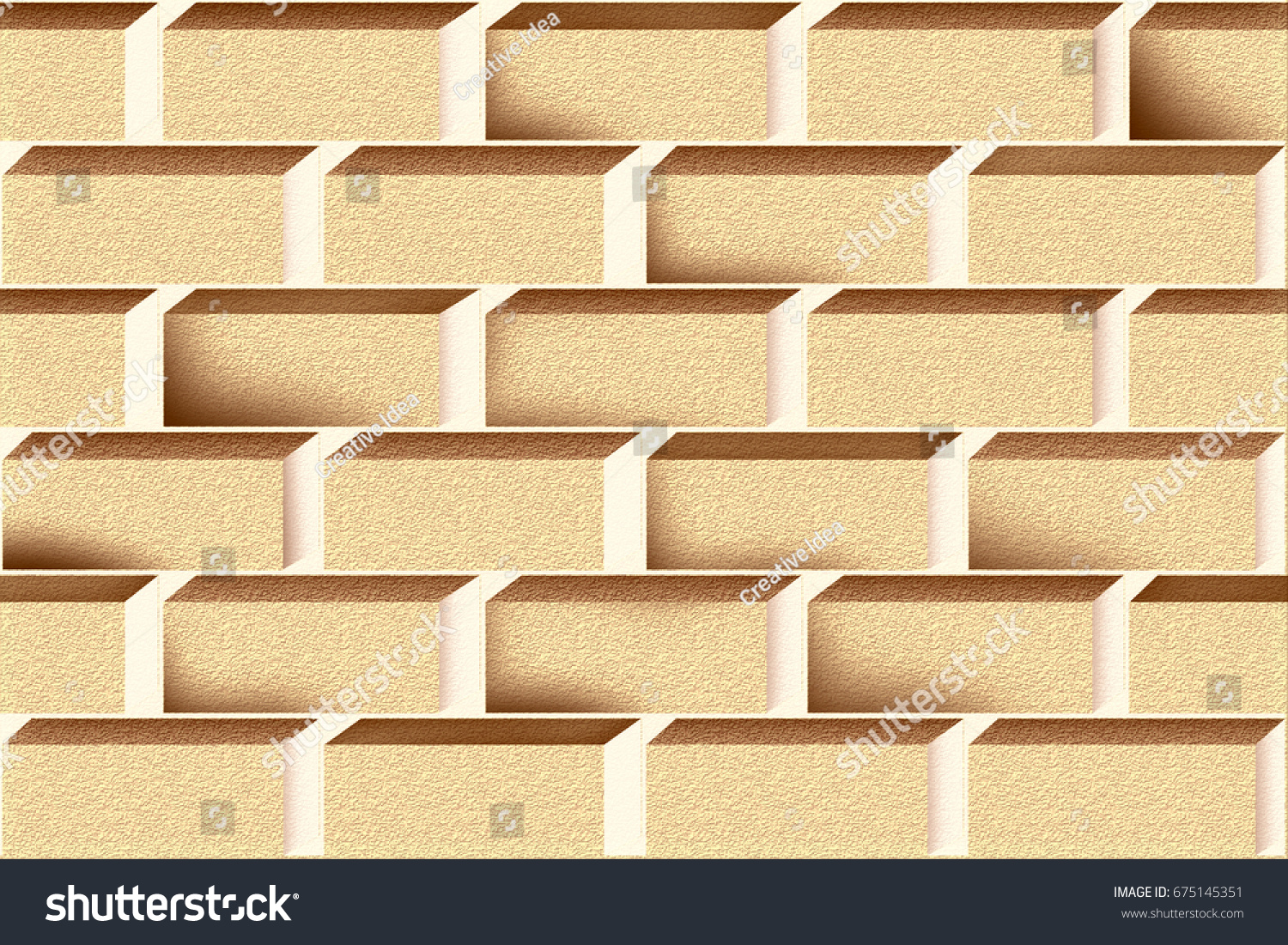 Abstract Home Decorative 3 D Marble Wall Stock Illustration ...