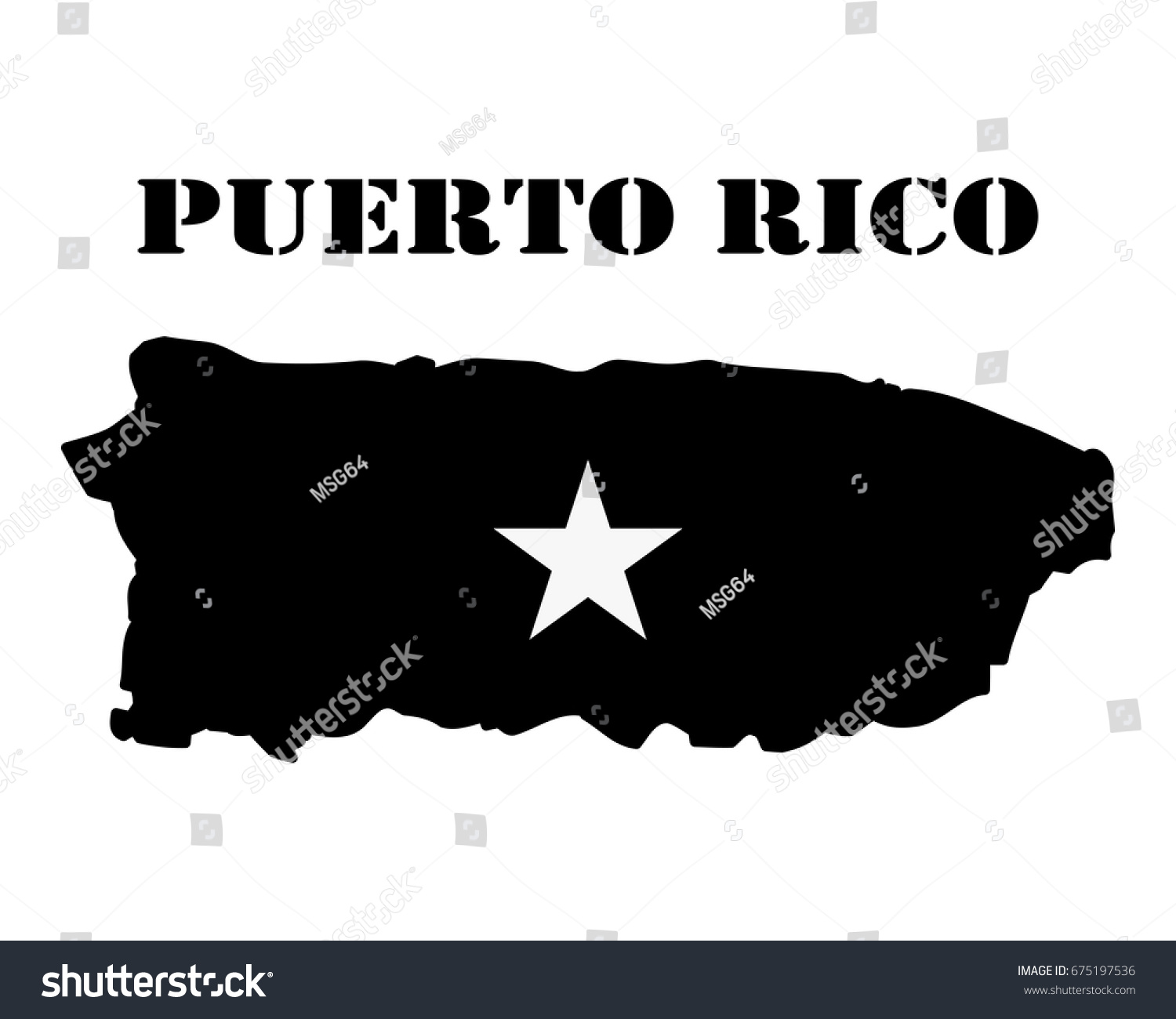 Black silhouette map white silhouette isle stock vector 675197536 black silhouette of the map and the white silhouette of the isle of puerto rico symbol biocorpaavc Choice Image
