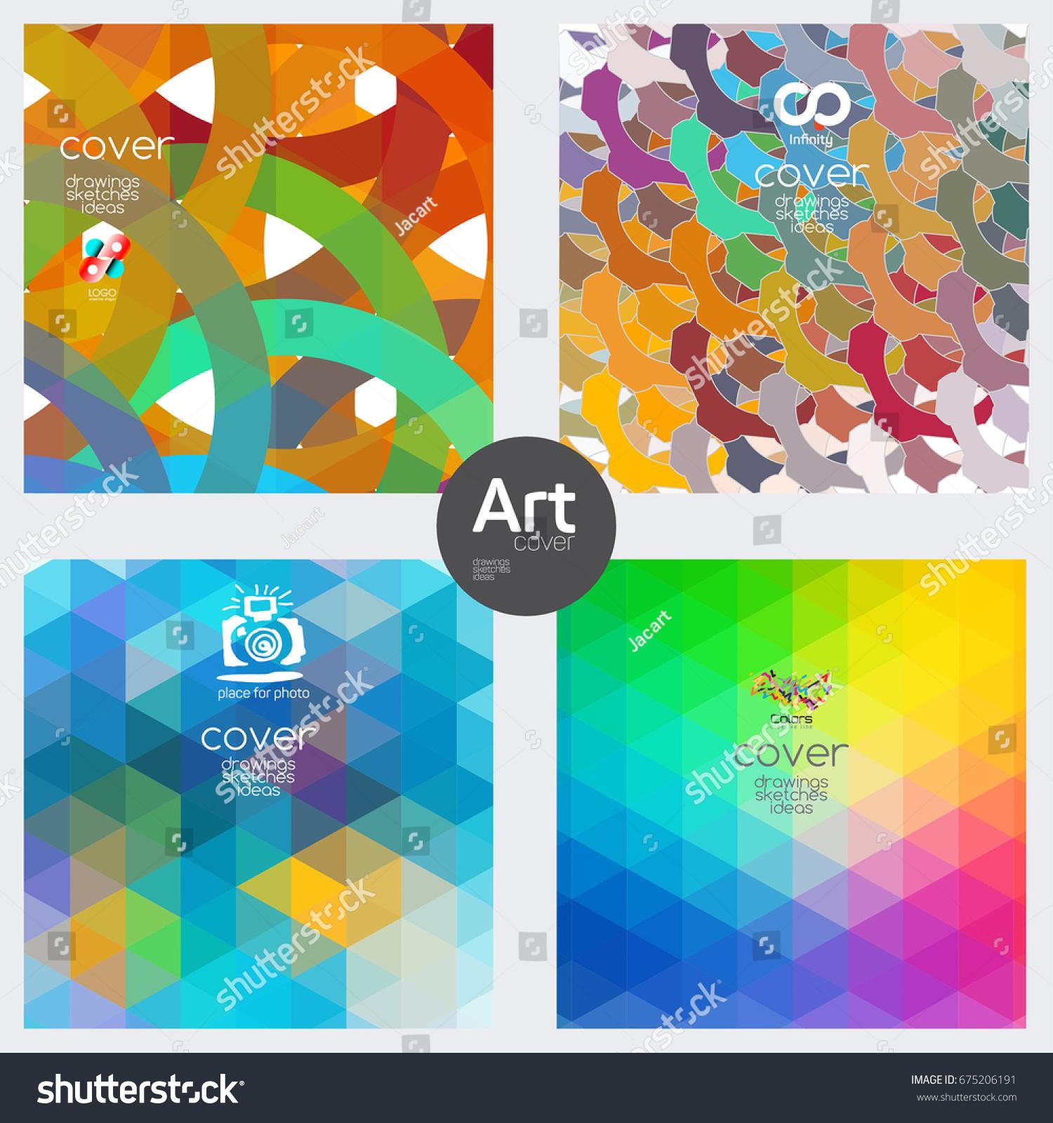 Minimal Covers Design Warm Color Palette Stock Vector 675206191 ...