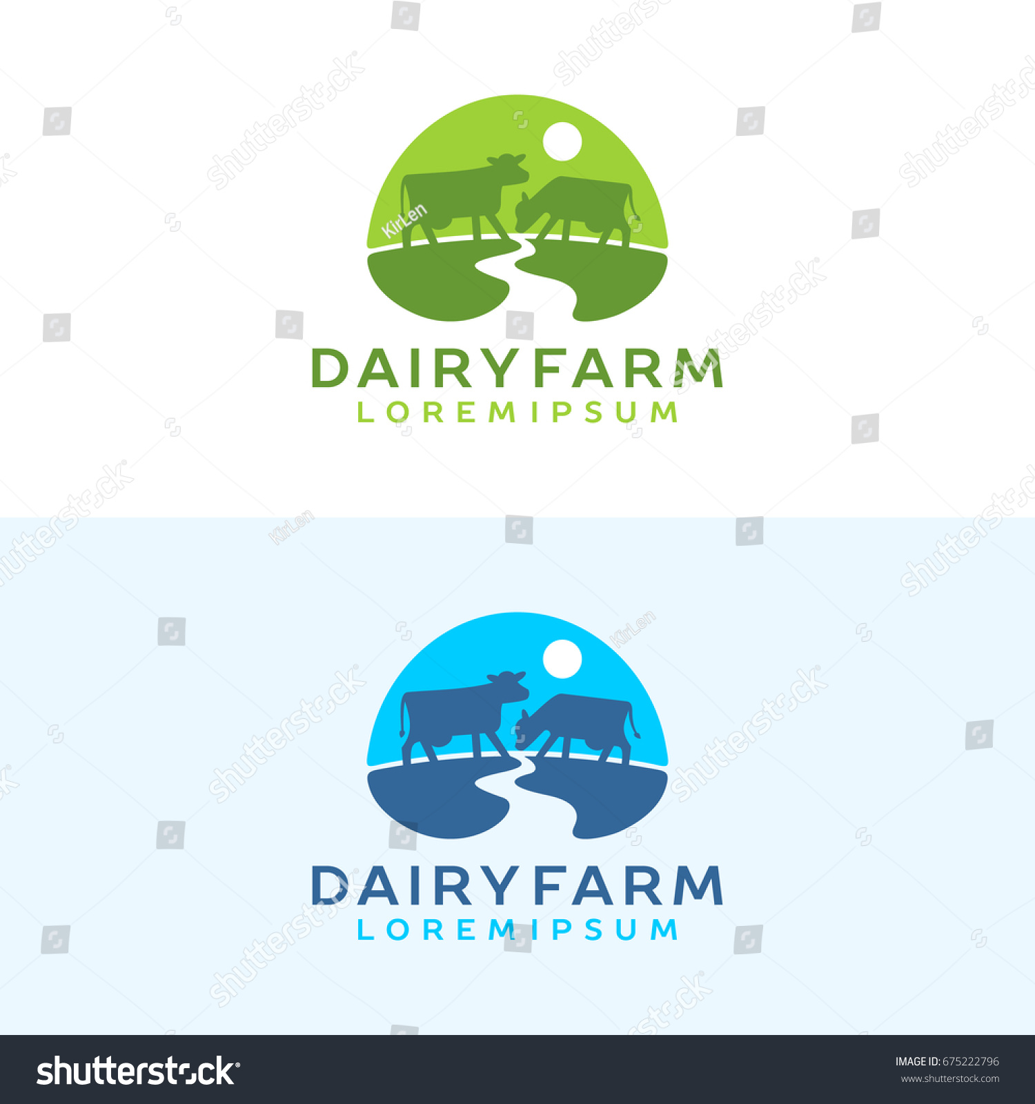 Cow Logo Farm Milk Emblem Dairy Product