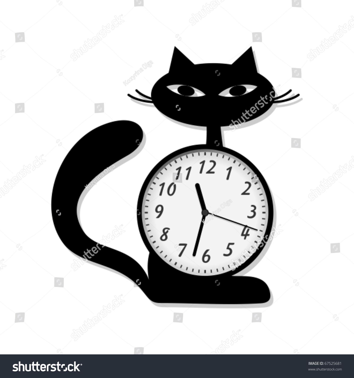 modern wall clock stock vector 67525681 shutterstock