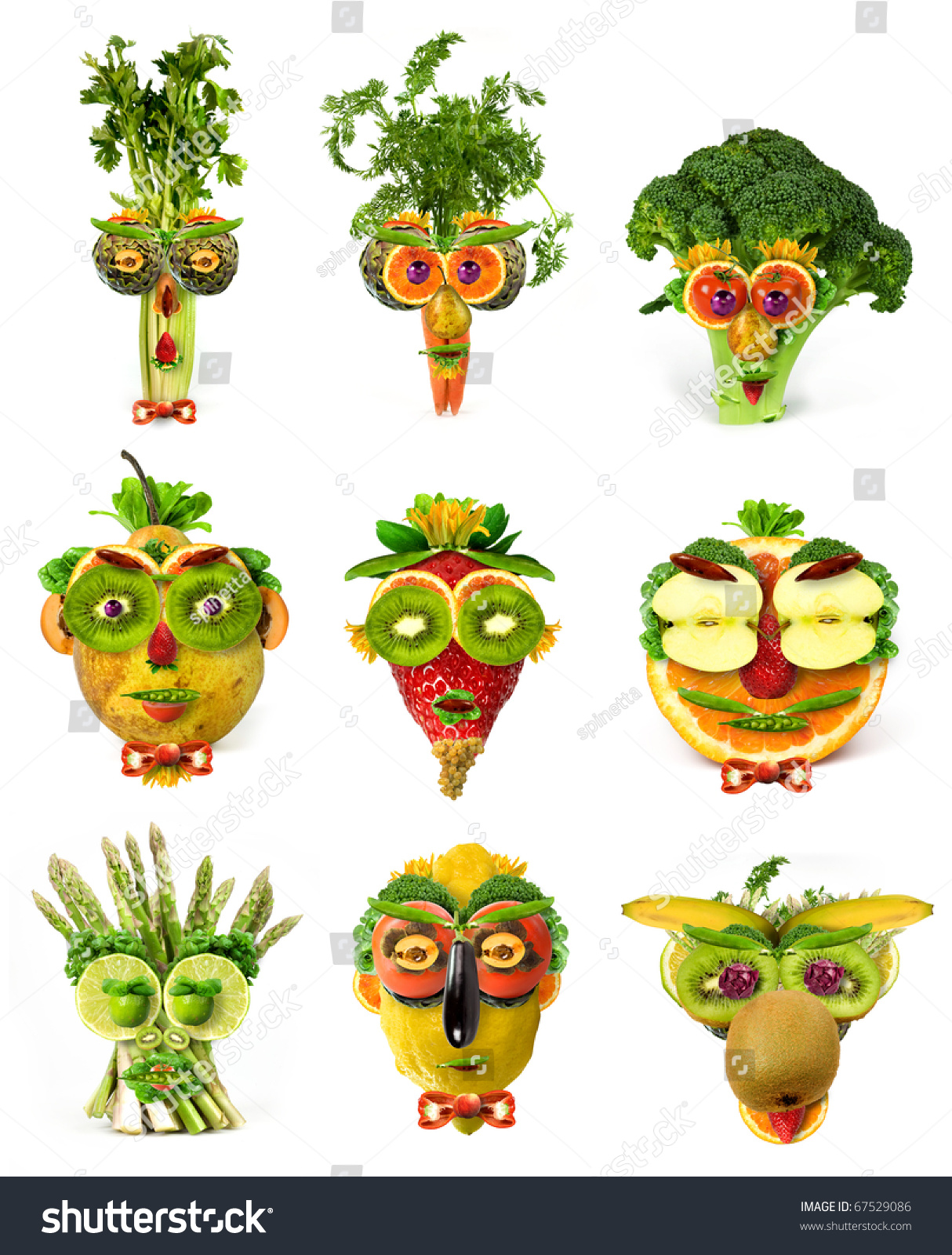 Image result for vegetables faces