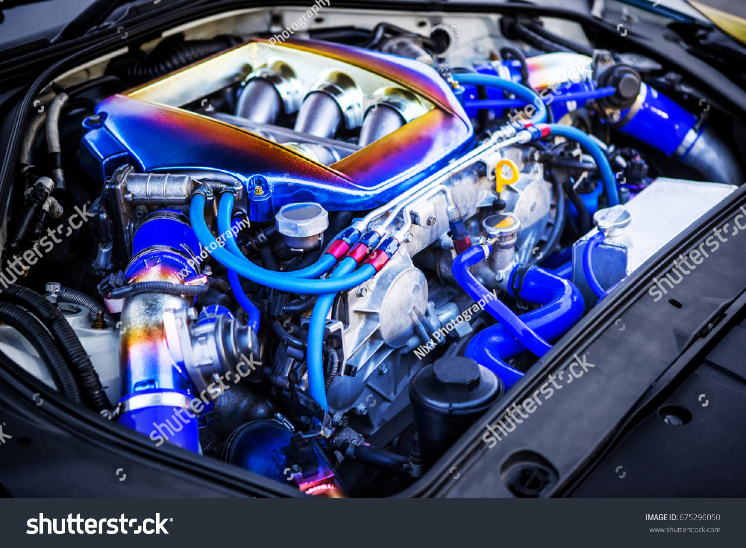 High Precision Muscle Car Engine Customized Stock Photo Edit Now 675296050