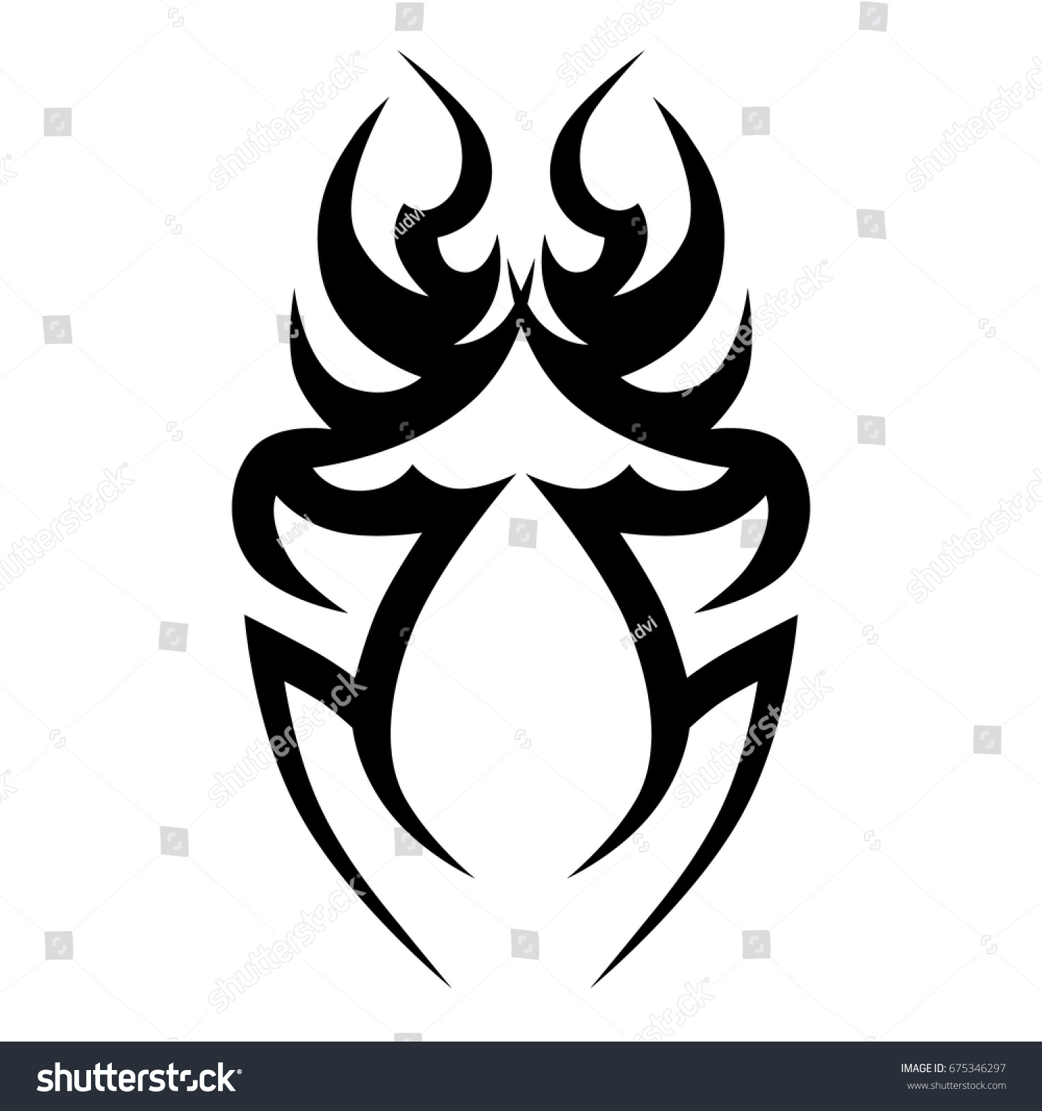 tattoo art designs tribal sketchideas creative stock vector 675346297 shutterstock. Black Bedroom Furniture Sets. Home Design Ideas