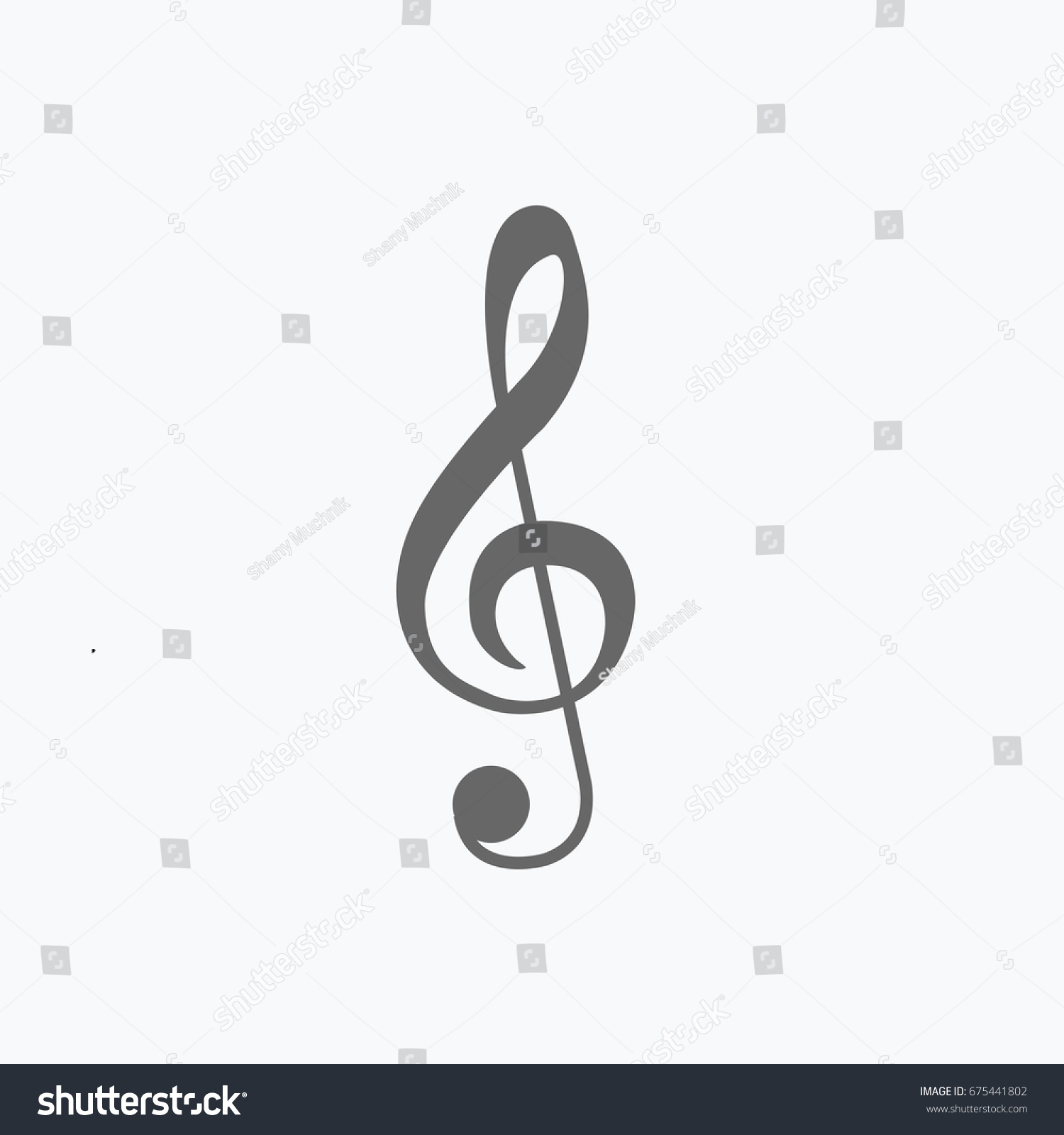 Treble clef symbol flat design style stock vector 675441802 treble clef symbol flat design style for music musical note sign cartoon beautiful sol buycottarizona Image collections