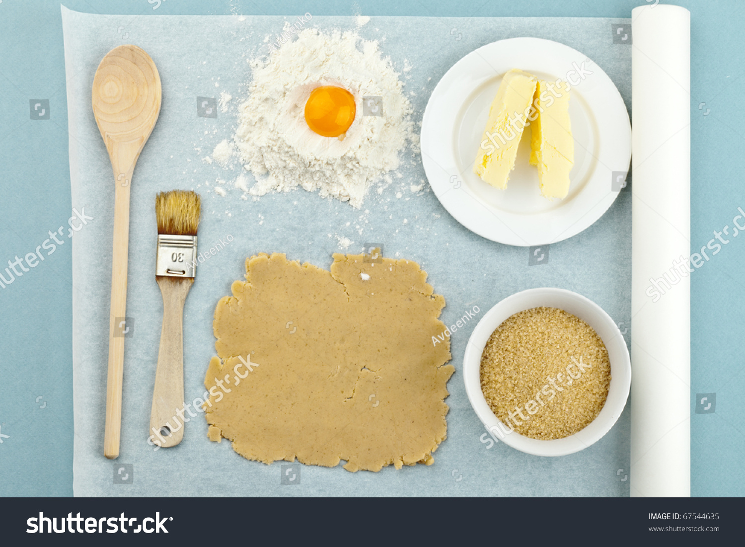 Baking ingredients for shortcrust pastry stock photo for Shortcrust pastry ingredients