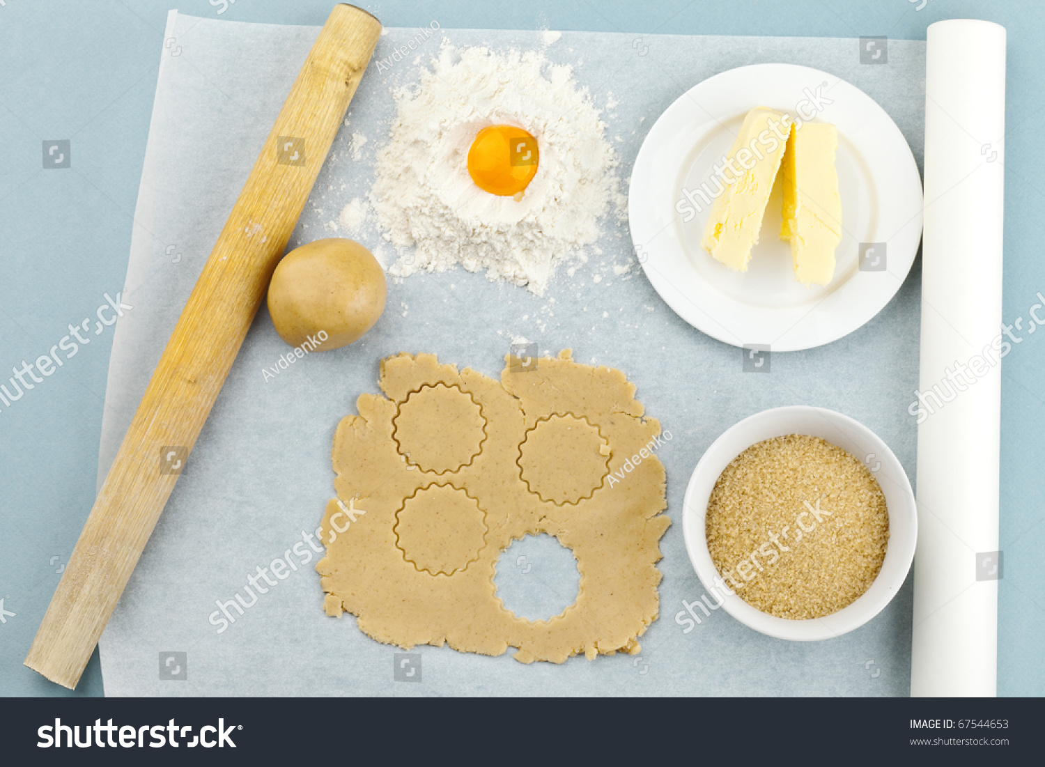 Baking ingredients shortcrust pastry stock photo 67544653 for Shortcrust pastry ingredients
