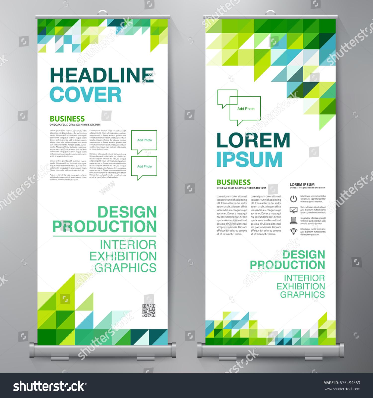 Design banner template - Business Roll Up Standee Design Banner Template Presentation And Brochure Flyer Vector