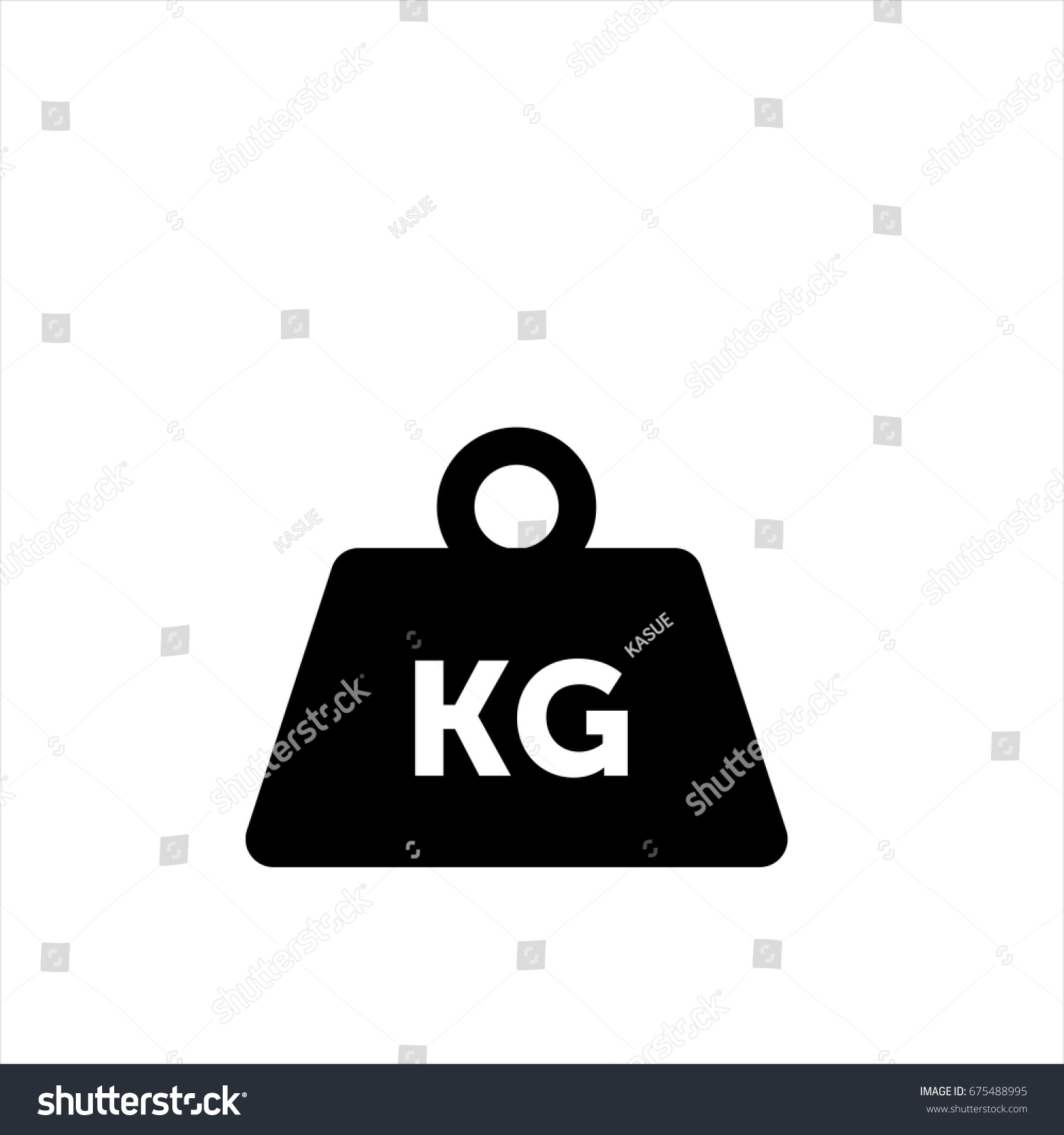 Weight Kilogram Icon Trendy Flat Style Stock Vector Royalty Free