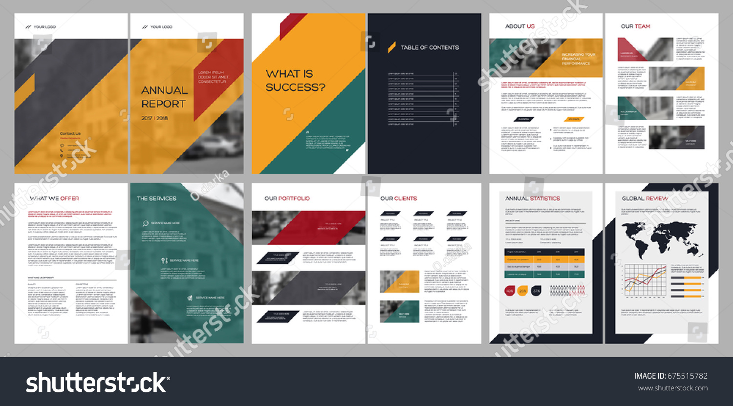 Design Annual Report Cover Vector Template Brochures Flyers Presentations Leaflet