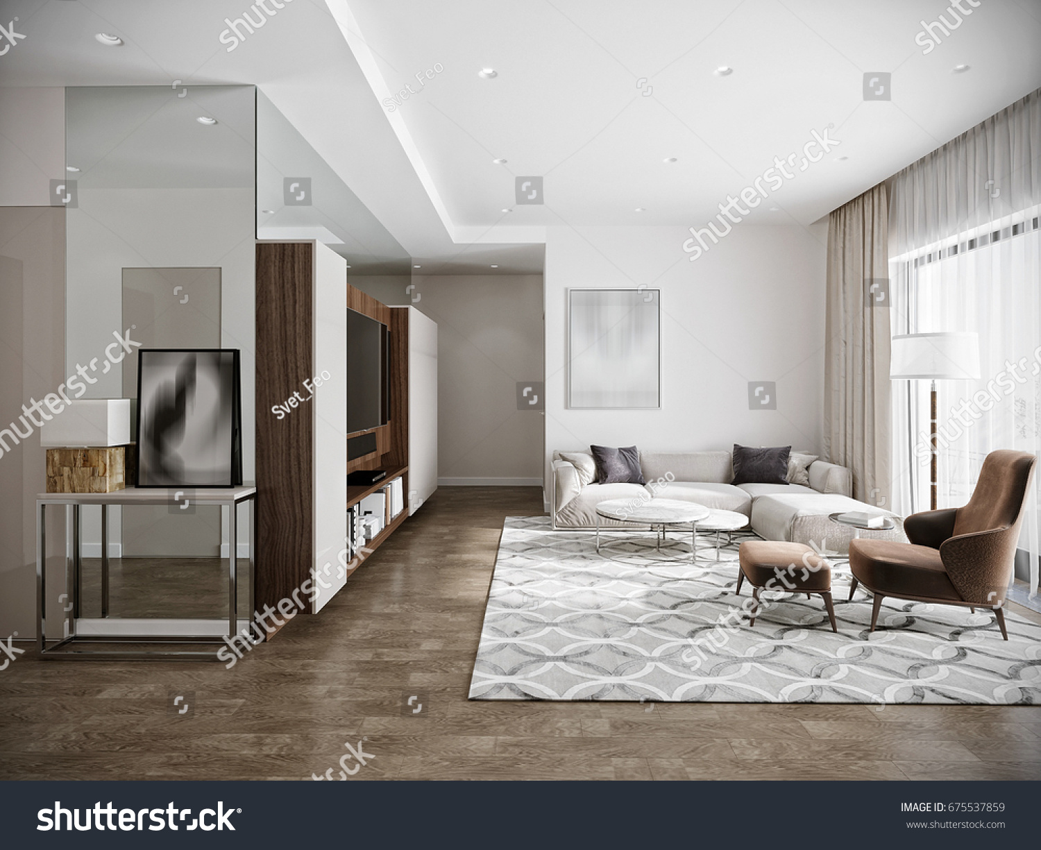 Modern Urban Contemporary Living Room Hotel Stock Illustration 675537859 Shutterstock: contemporary urban living room