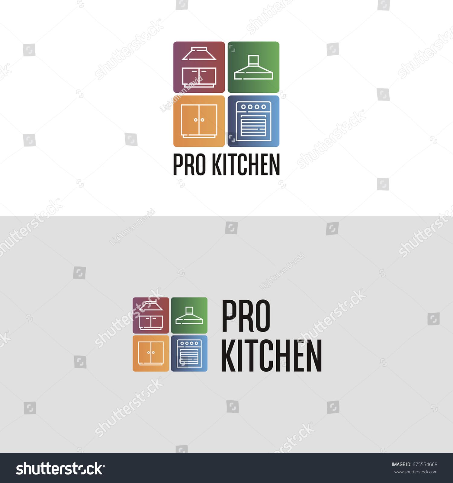 Suchen Sie nach Pro Kitchen Logo Template Interior Design ...