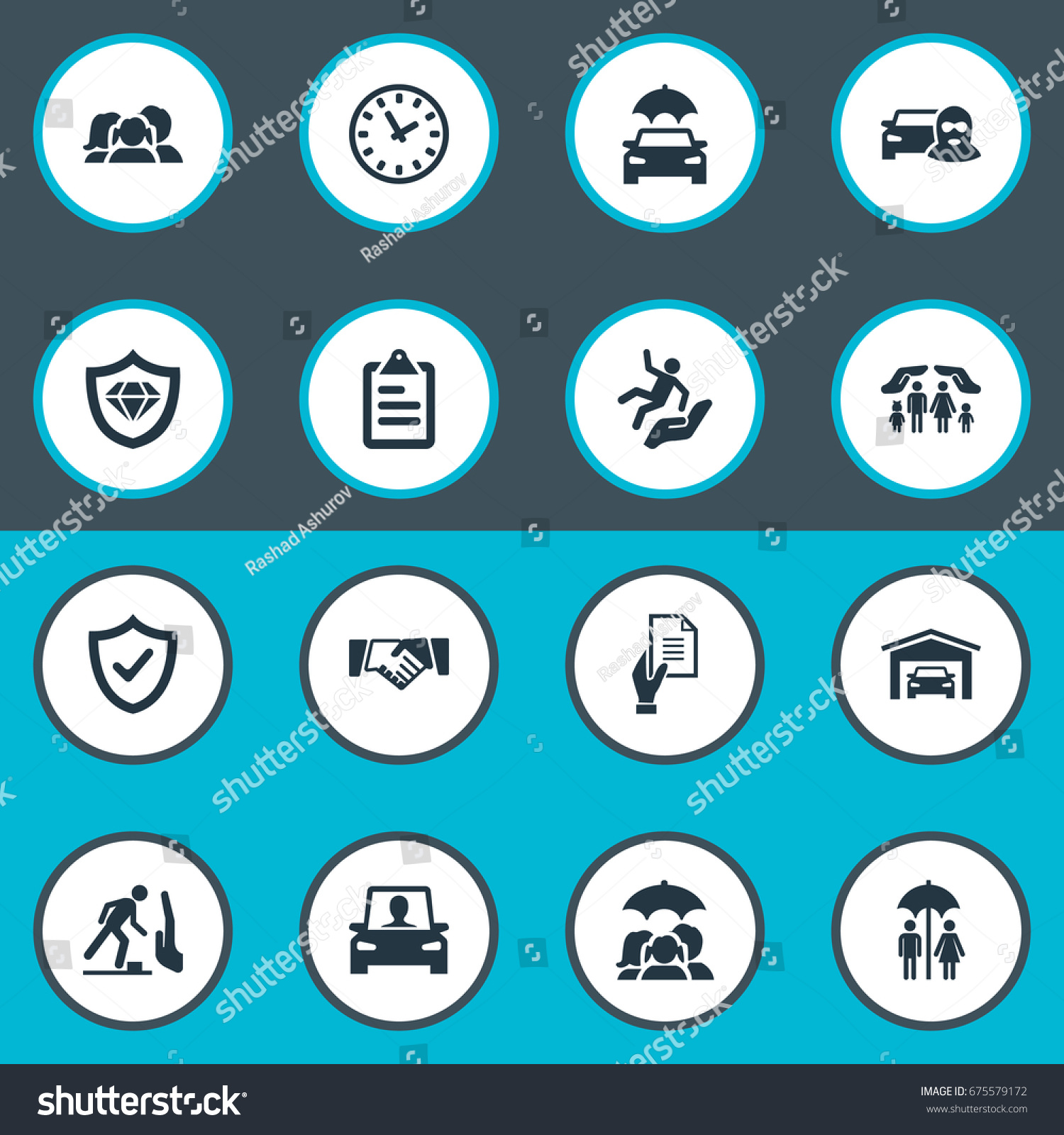 Vector Illustration Set Simple Fuse Icons Stock Vector 675579172 ...