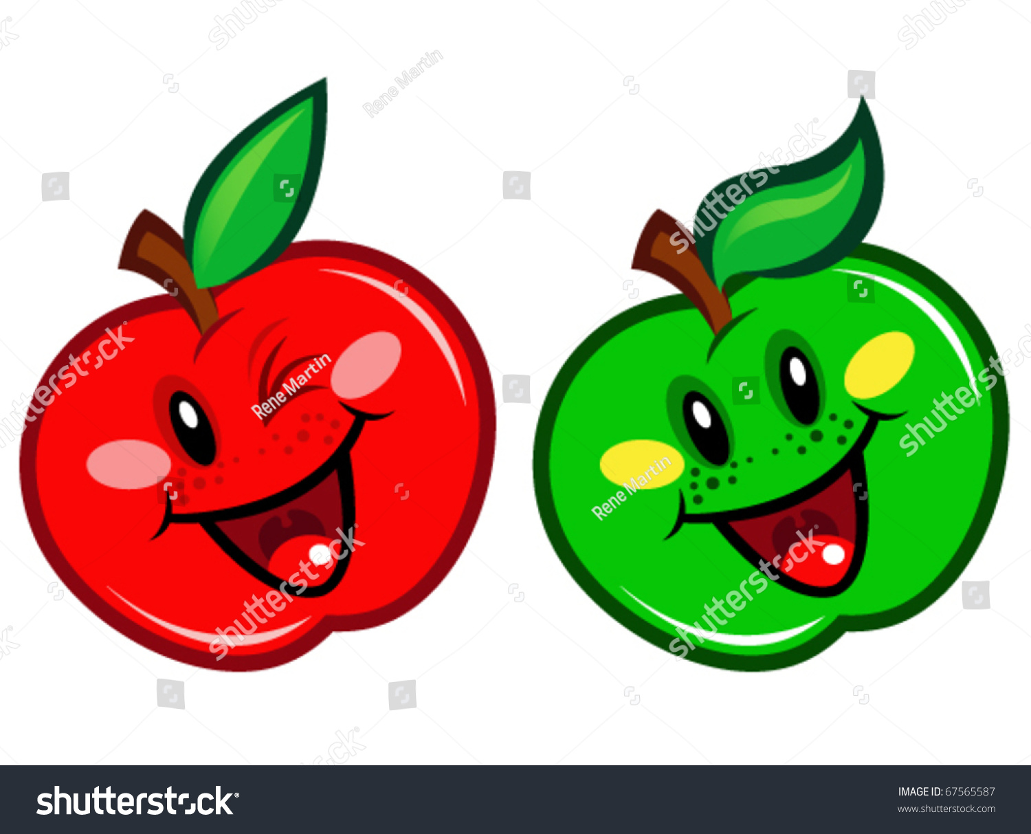 green and red apple clipart. happy green \u0026 red apple and clipart -