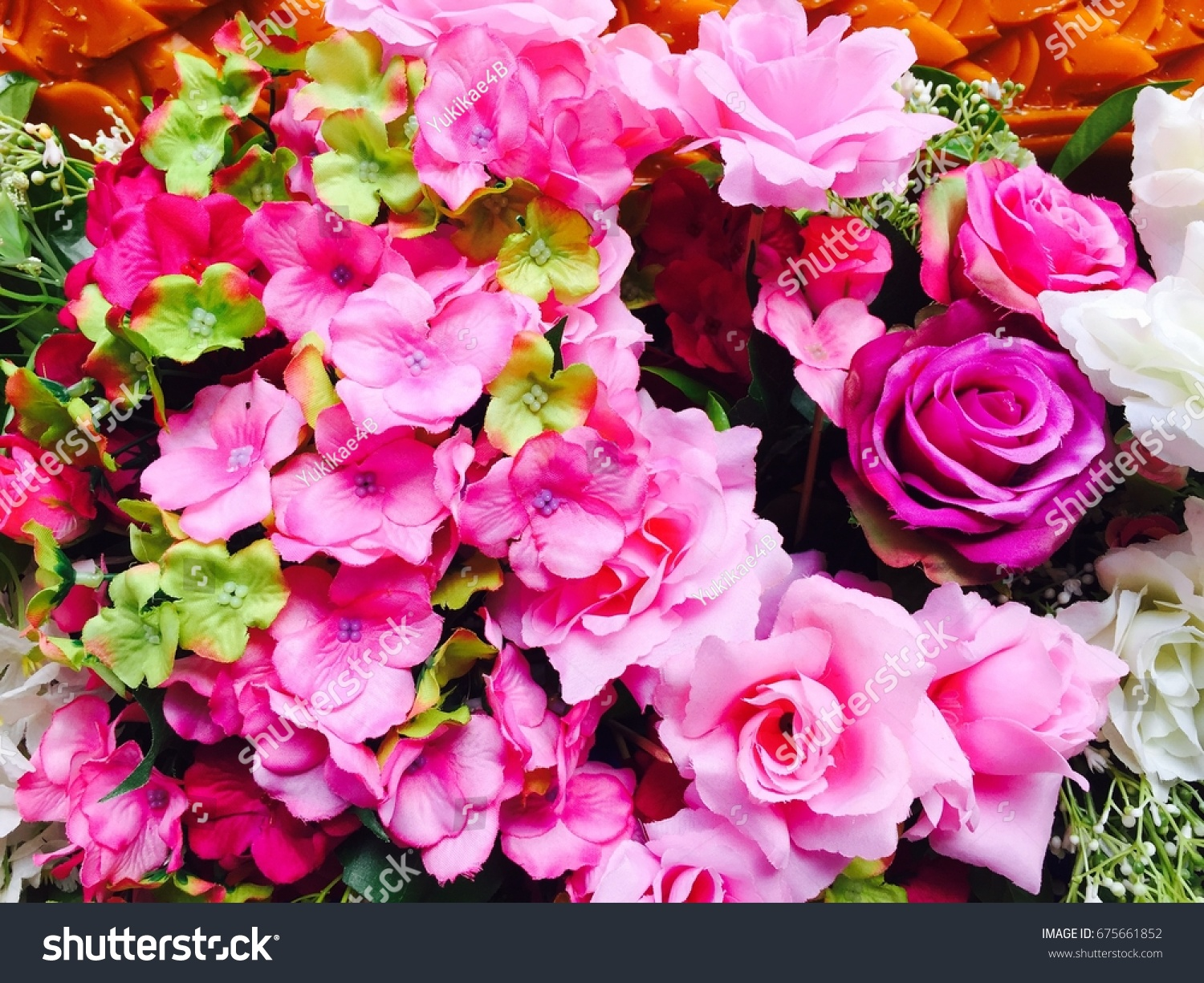 Bunch Roses Bouquet Set Beautiful Flower Stock Photo Royalty Free