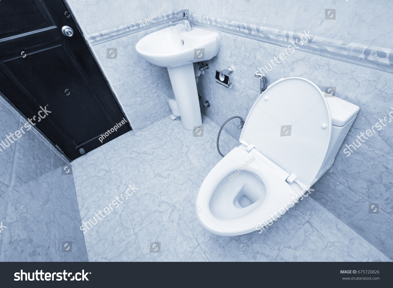 White Toilet Bowl Sink Faucet Bathroom Stock Photo (Edit Now ...