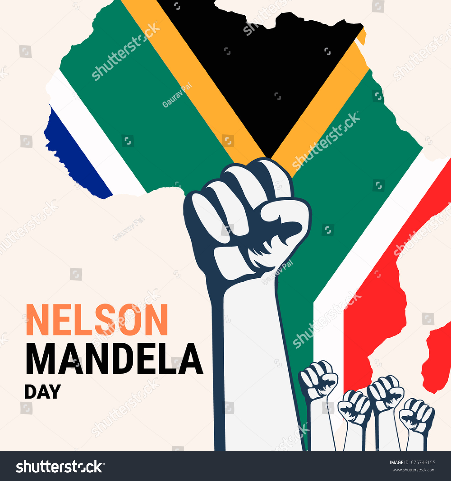 nelson mandela day concept art showing stock vector 675746155 rh shutterstock com Nelson Mandela Drawing Nelson Mandela Day Clip Art