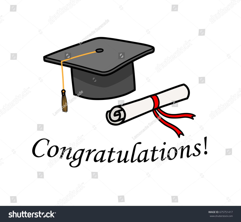 graduation congratulations hand drawn vector cartoon stock vector