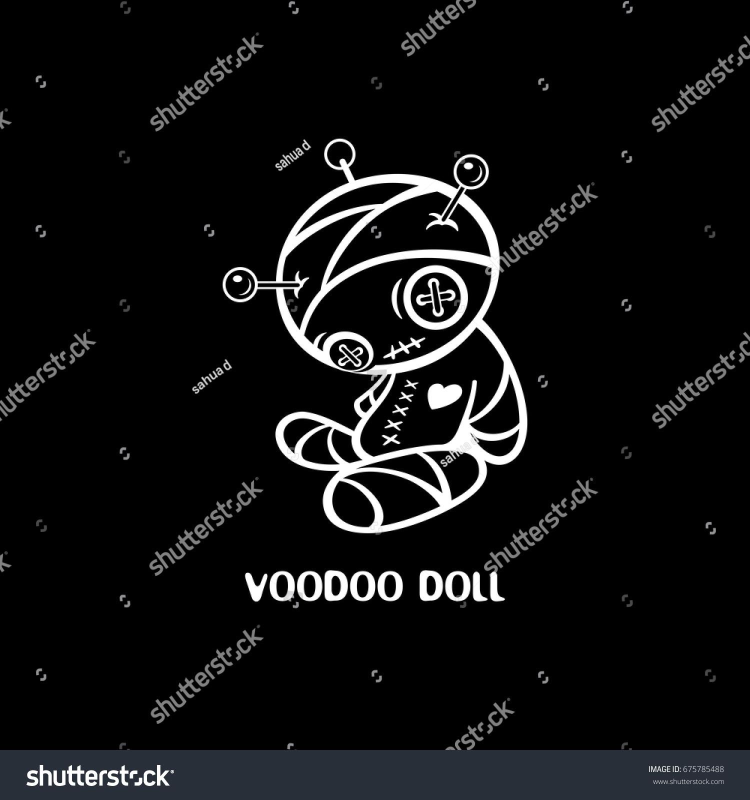 Black t shirt designs - Voodoo Doll Black T Shirt Design