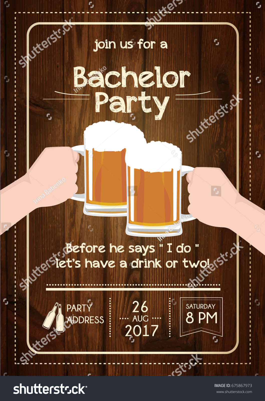 Bachelor Party Invitation Card Stock Vector HD (Royalty Free ...
