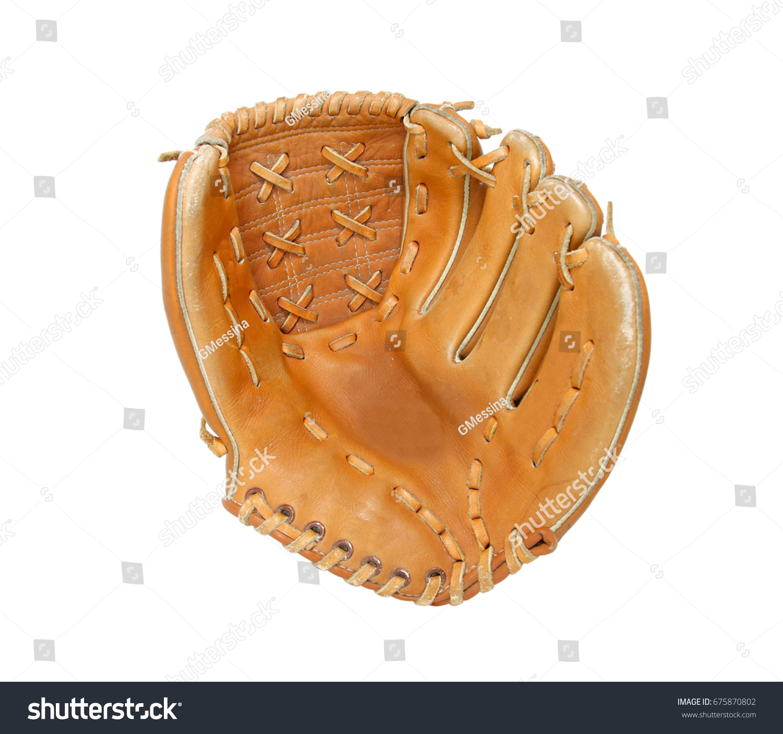 Baseball glove isolated on white background #675870802
