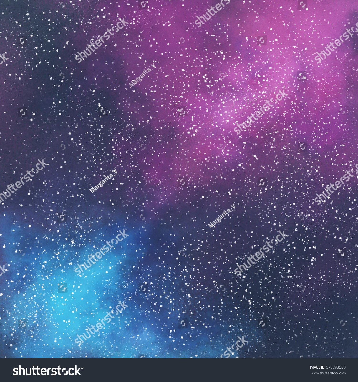 abstract space galaxy background stars nebula stock illustration
