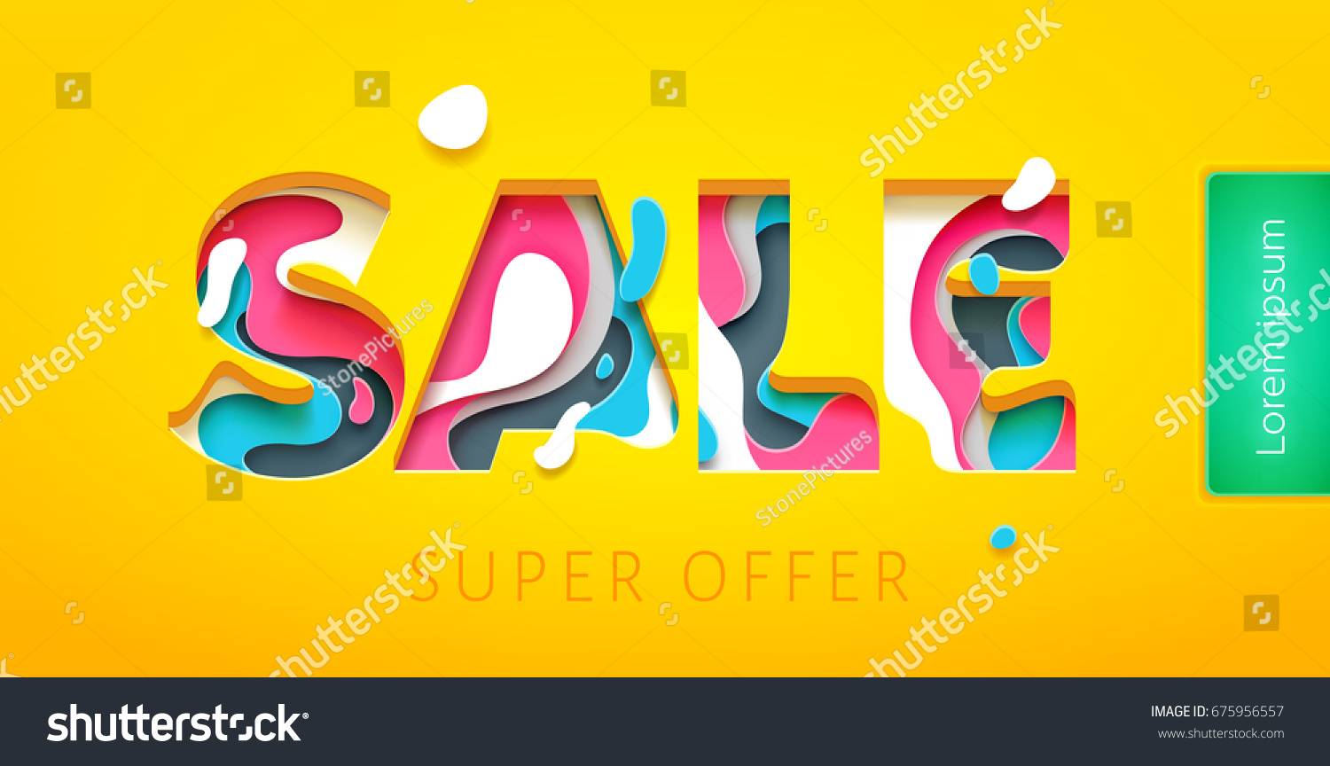 sale tag design template paper art stock vector royalty free