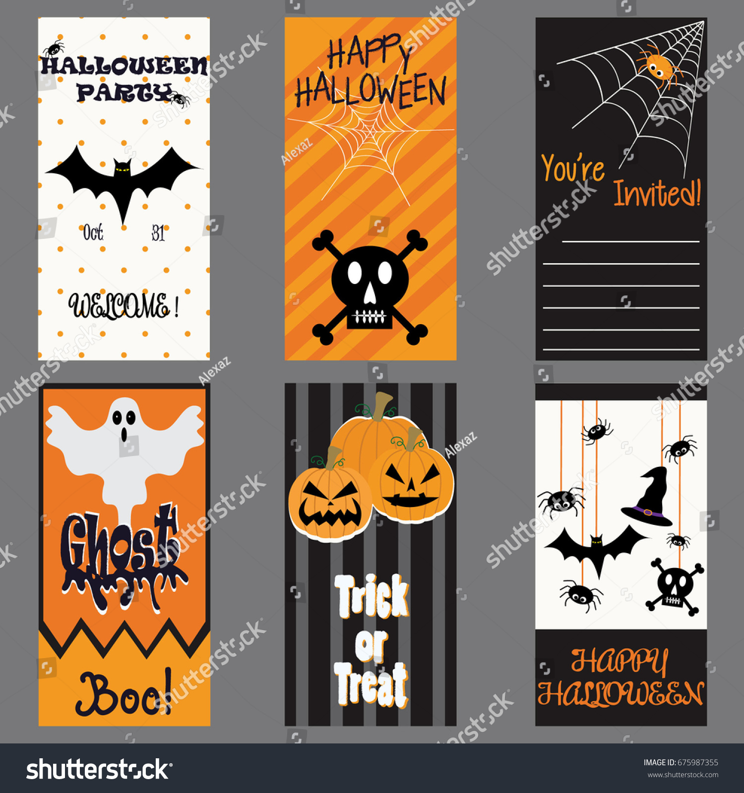 Happy Halloween Invitation Cardhalloween Party Card Vector – Welcome Party Invitation Cards