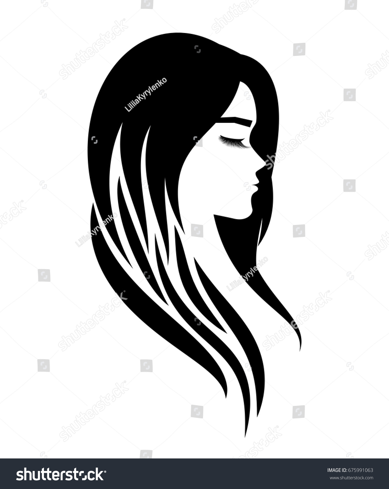 Logo For A Beauty Salon Or Procedures For Hair Extensions Or