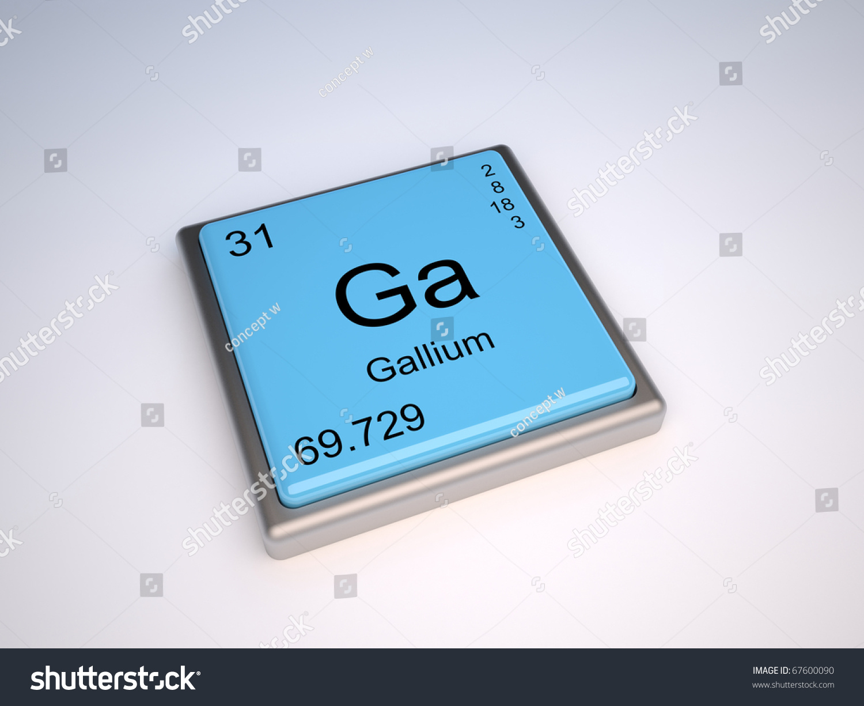 Gallium chemical element periodic table symbol stock illustration gallium chemical element of the periodic table with symbol ga gamestrikefo Images