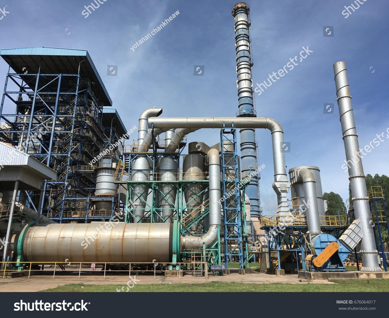 Eucalyptus Bark Dryer Supply Fuel Power Stock Photo (Royalty Free ...