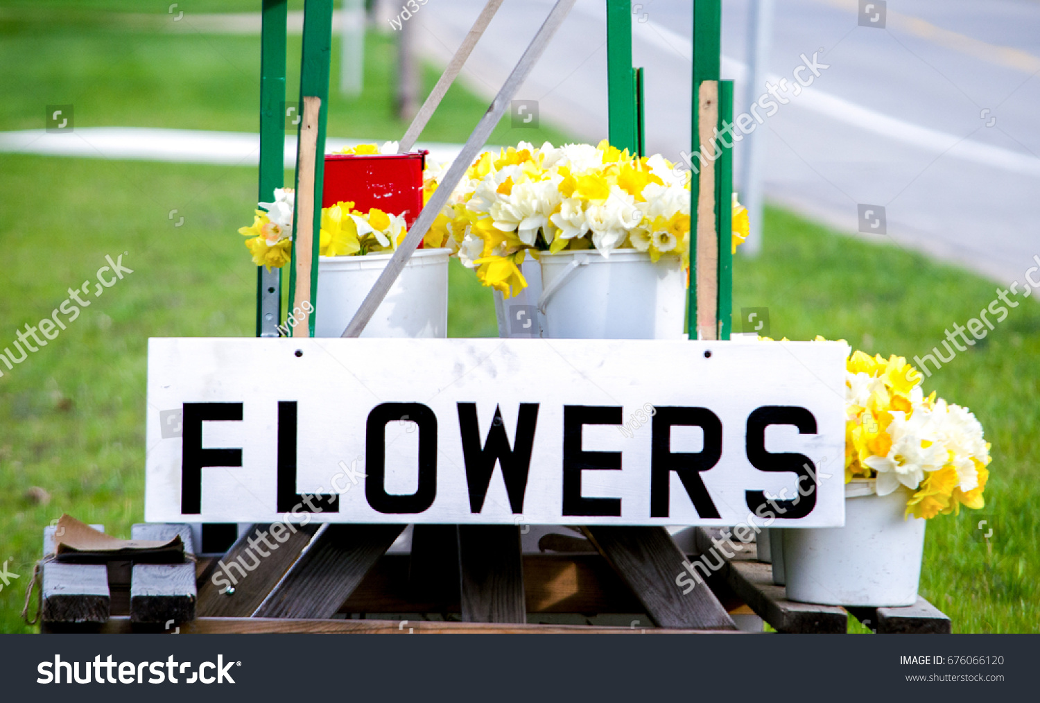 Spring Flowers Sale Roadside Stand Michigan Stock Photo Edit Now