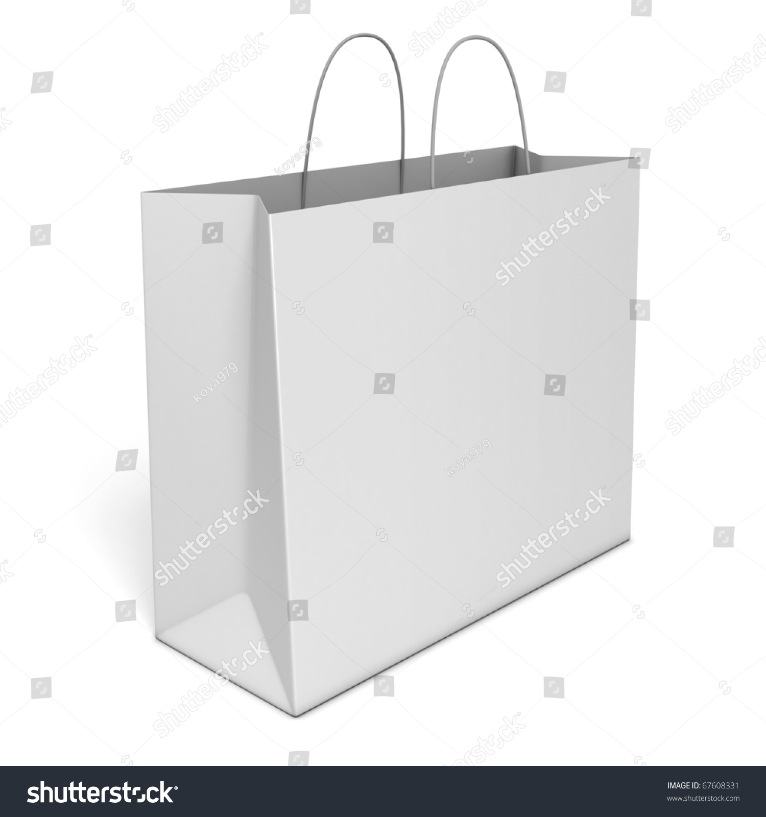 Blank Shopping Bag Isolated Over White Background Stock Photo ...