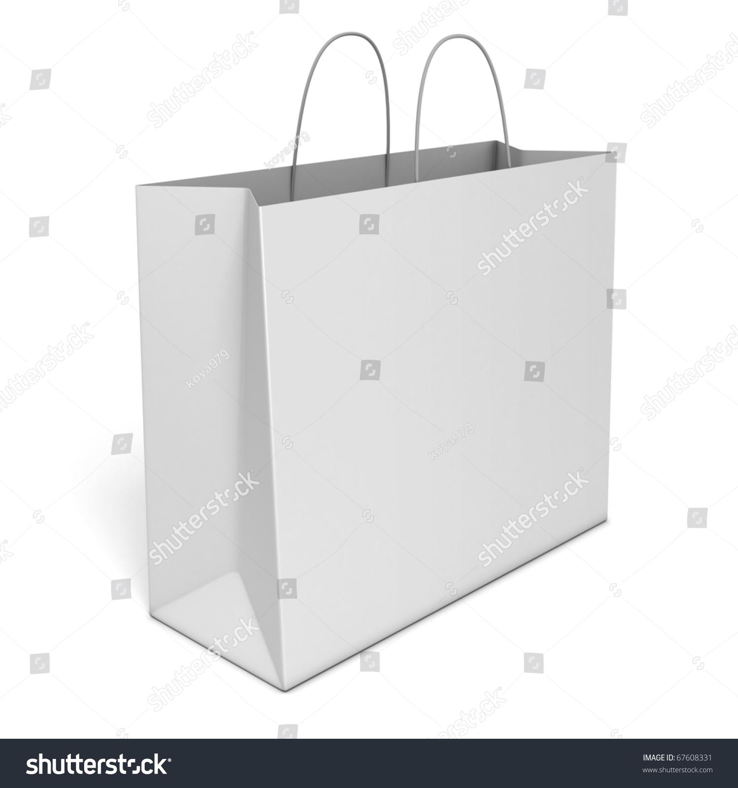 Blank Shopping Bag Isolated Over White Background Stock Photo ...