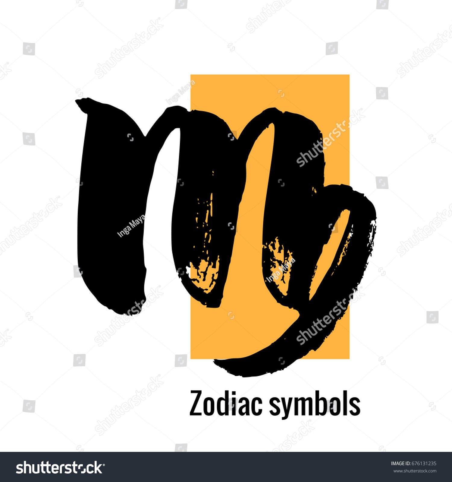 The virgo symbol image collections symbols and meanings signs zodiac virgo symbol hand draw stock vector 676131235 signs of the zodiac virgo symbol hand buycottarizona Gallery