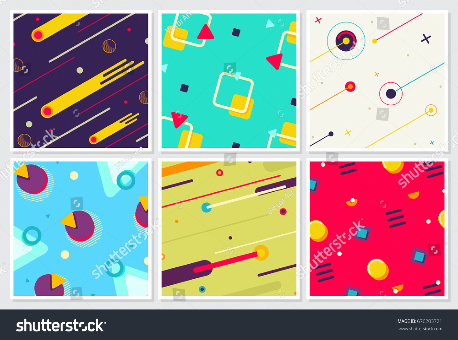 Memphis New Style Large Background Design Stock Vector HD (Royalty ...