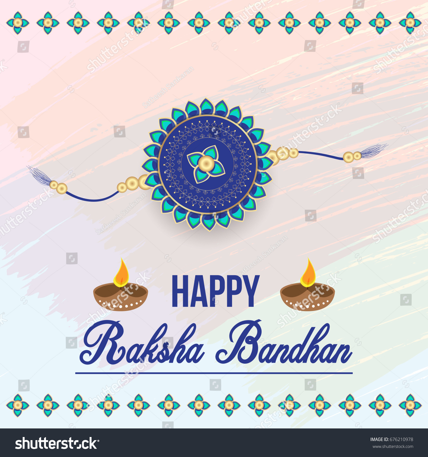Creative happy raksha bandhan greeting card stock vector 676210978 creative happy raksha bandhan greeting card for indian festival celebrations for brothers and sisters kristyandbryce Image collections