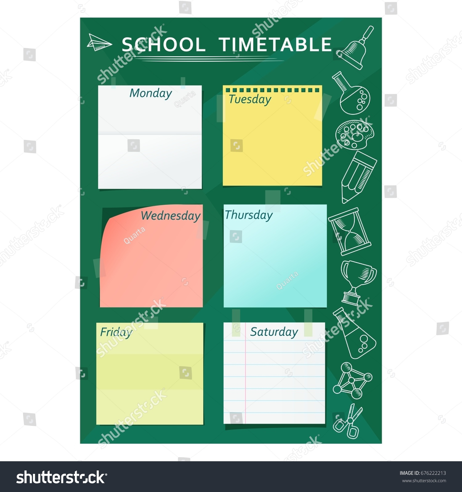 Blank School Timetable Template Eliolera – Timetable Template School