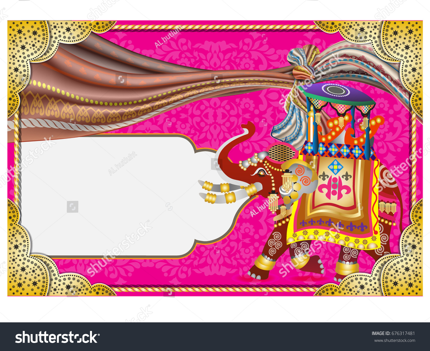 Free Online Indian Wedding Invitation Website: Vector Illustration Indian Wedding Invitation Card Stock