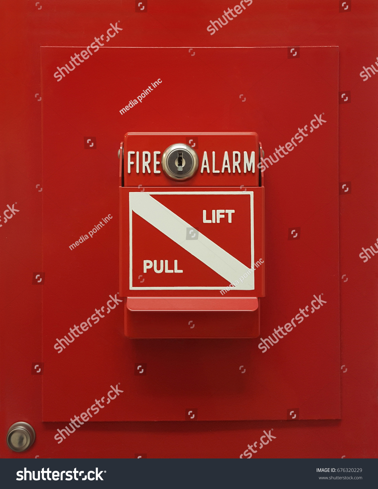Safety Fire Alarm Lift Pull Box Stock Photo Edit Now 676320229