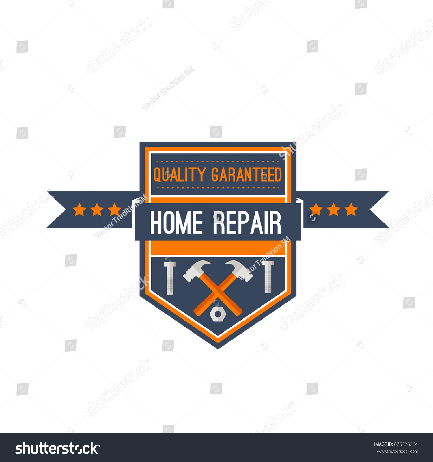 Home Design Repair Construction Company Icon Stock Vector 676326064 ...