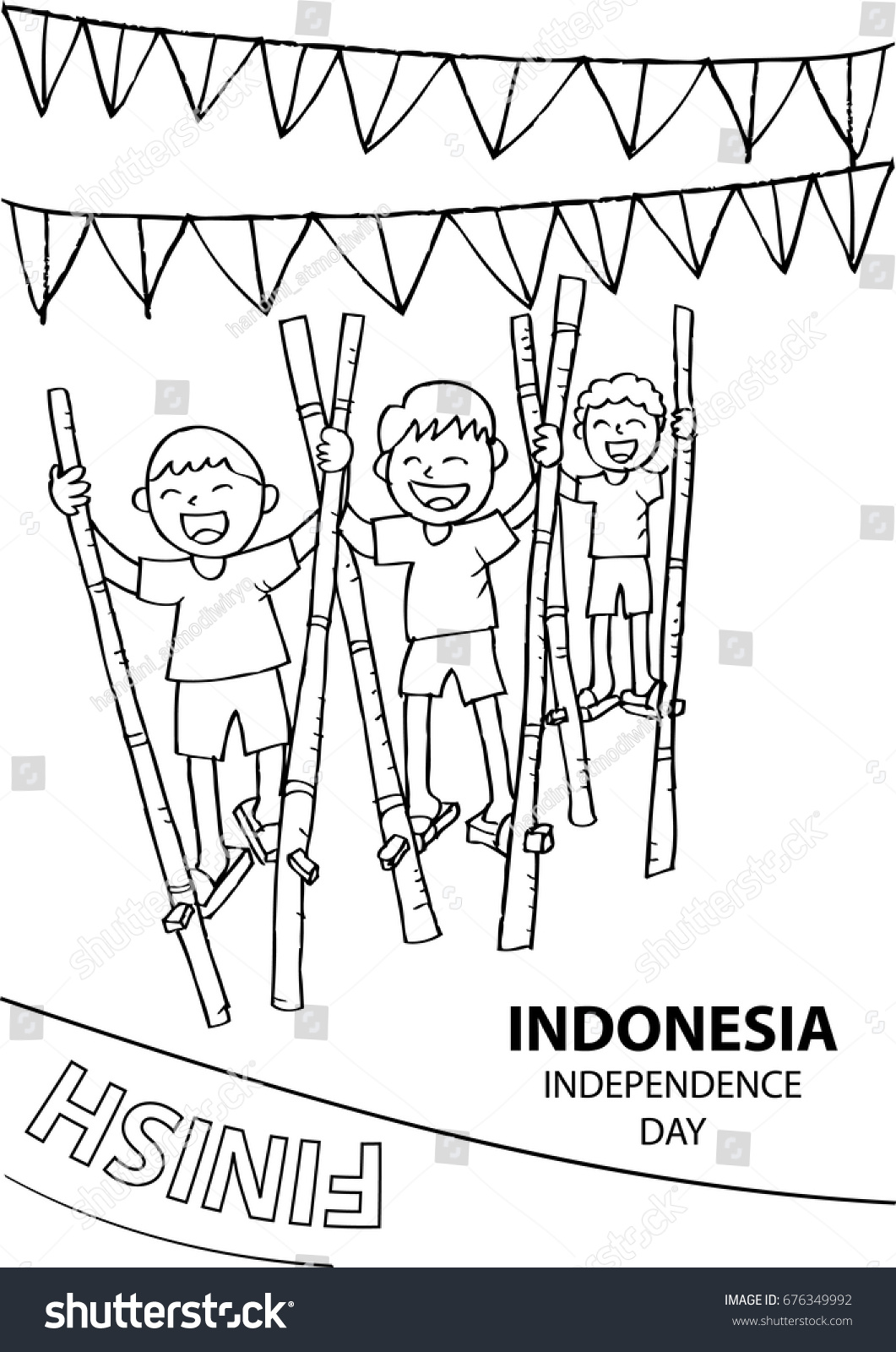 Coloring Picture Of Indonesia Flag