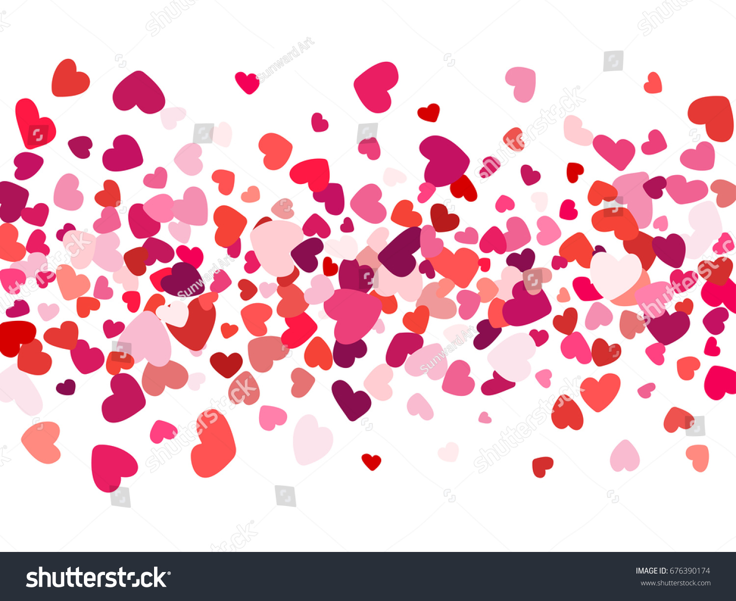 heart doodles love and friendship background illustration valentines day banner love symbols vector pattern