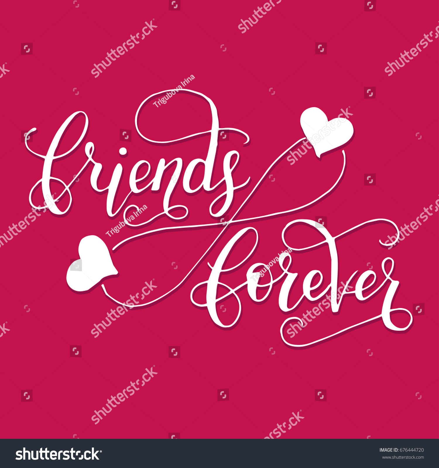 Friends forever lettering card friendship day stock vector 676444720 friends forever lettering card for friendship day handdrawn unique calligraphy for greeting cards kristyandbryce Image collections