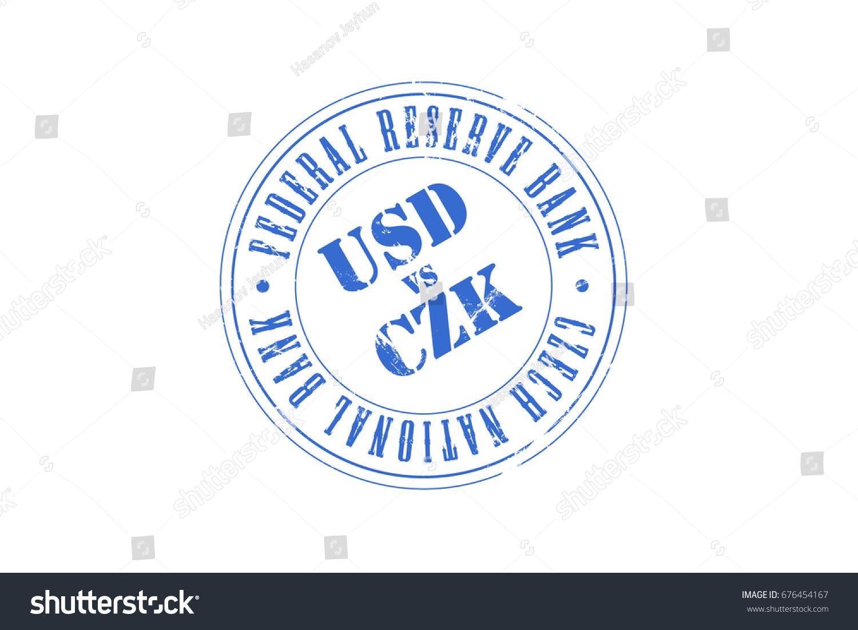 Usd Vs Czk Federal Reserve Bank Stock Illustration 676454167