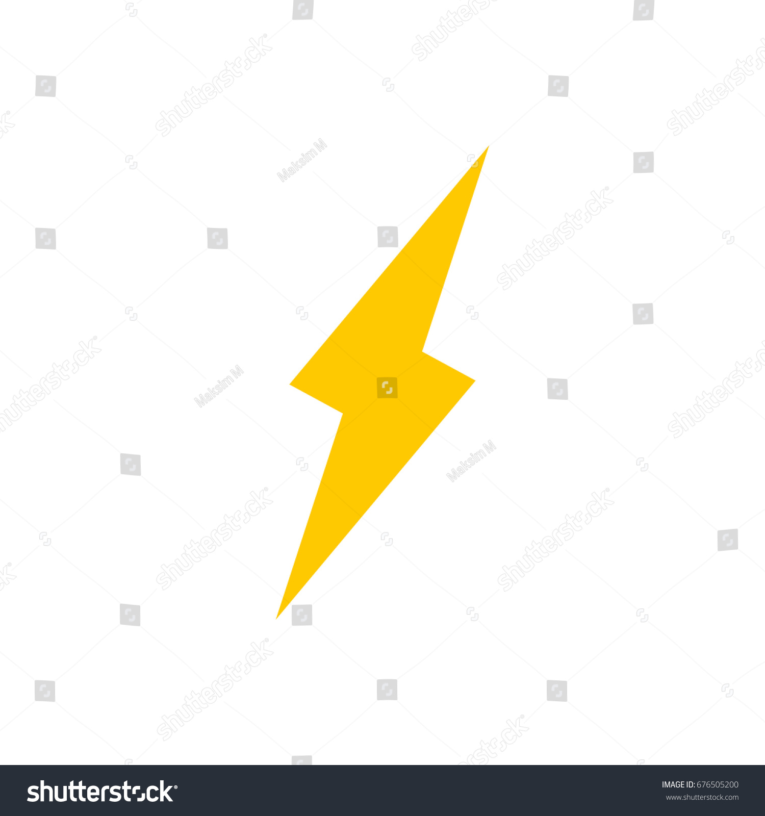 Lightning Bolt Vector Icon Stock Vector 676505200 - Shutterstock for Vector Lighting Bolt  186ref