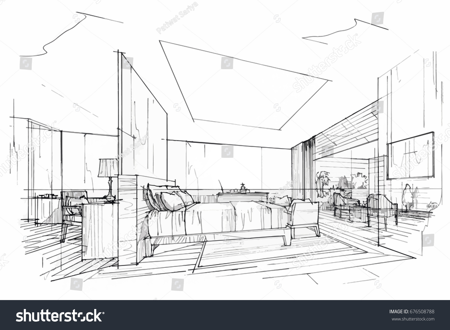 Interior Design Drawings Perspective. Interior Design Drawings Perspective C