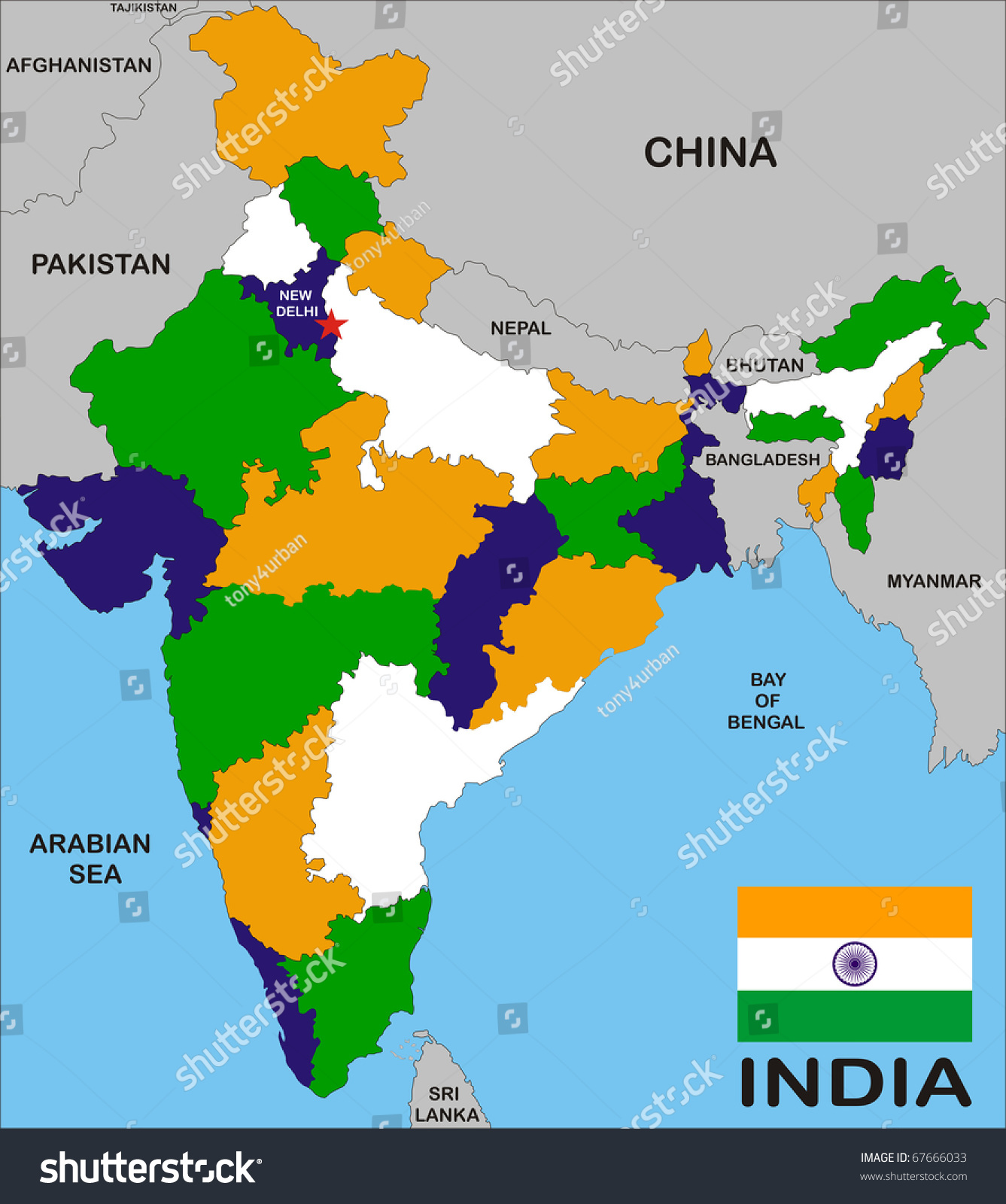 Latest India Map.Royalty Free Stock Illustration Of India Map States Boundary Flag