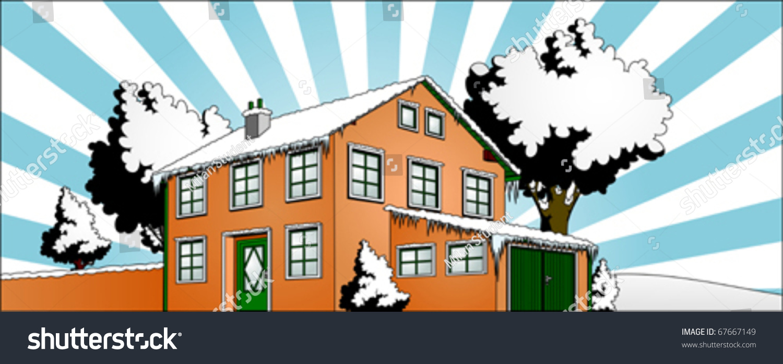 house garden winter sun vector stock vector 67667149 shutterstock